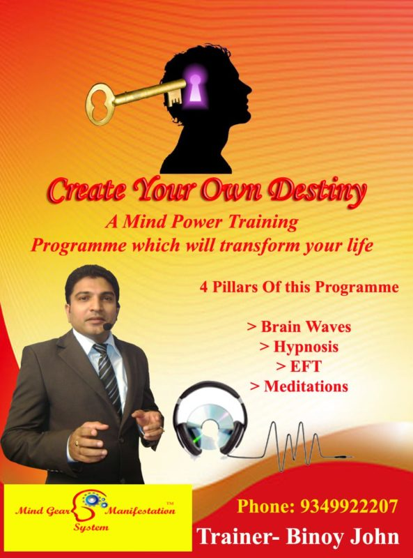 Mind power Hypnosis eft training kochi kerala India